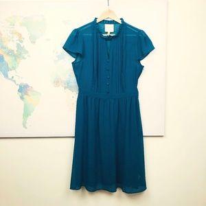 Modcloth Green Retro Dress Size Medium